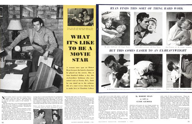 Article Preview: WHAT IT'S LIKE TO BE A MOVIE STAR, November 1951 | Maclean's