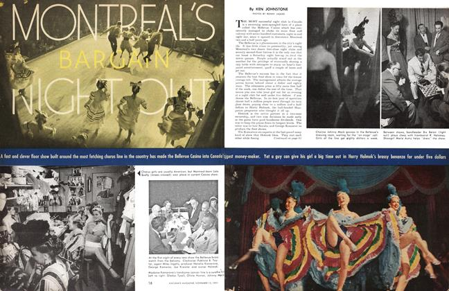 Article Preview: MONTREAL'S BARGAIN NIGHT OUT, November 1951 | Maclean's