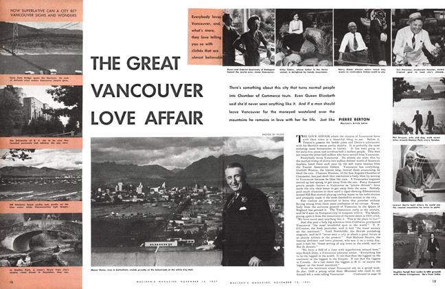 Article Preview: THE GREAT VANCOUVER LOVE AFFAIR, November 1951 | Maclean's