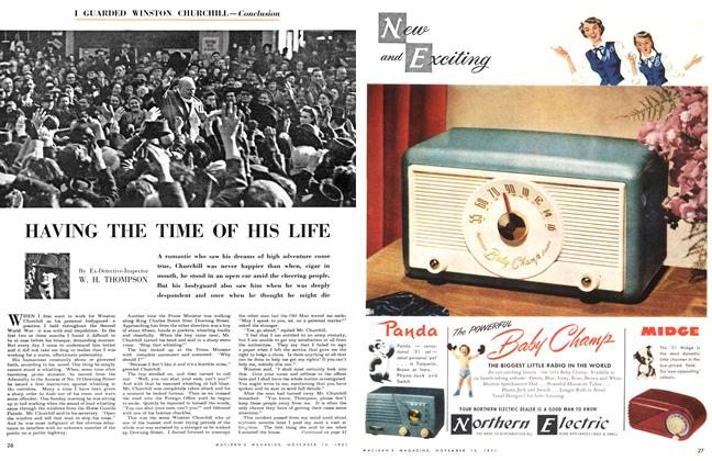 Article Preview: HAVING THE TIME OF HIS LIFE, November 1951 | Maclean's