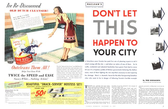Article Preview: DON'T LET THIS HAPPEN TO YOUR CITY, November 1951 | Maclean's