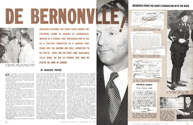 Article Preview: DE BERNONVLLE!, November 1951 | Maclean's