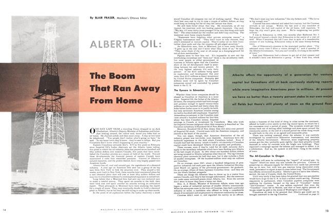 Article Preview: The Boom That Ran Away From Home, November 1951 | Maclean's