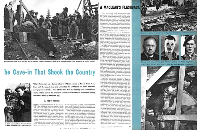 Article Preview: The Cave-in That Shook the Country, December 1951 | Maclean's