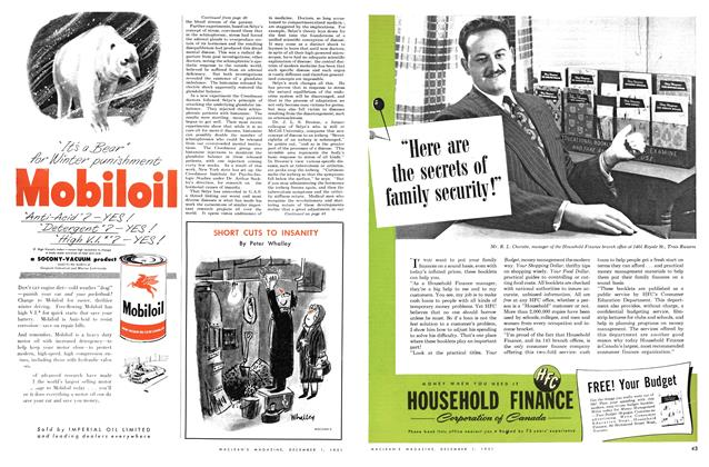 Article Preview: SHORT CUTS TO INSANITY, December 1951   Maclean's