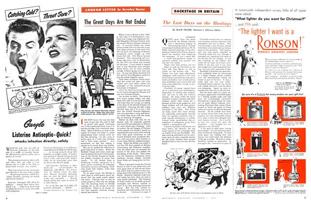 Article Preview: The Last Days on the Hustings, December 1951 | Maclean's