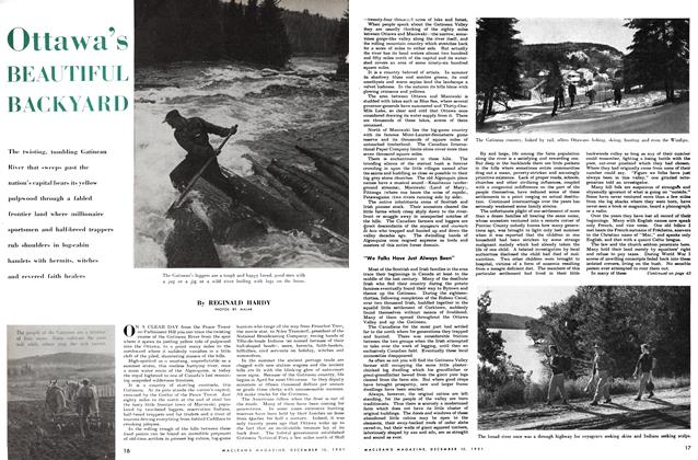 Article Preview: Ottawa's BEAUTIFUL BACKYARD, December 1951 | Maclean's