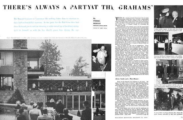Article Preview: THERE'S ALWAYS A PARTY AT THE GRAHAMS', December 1951 | Maclean's