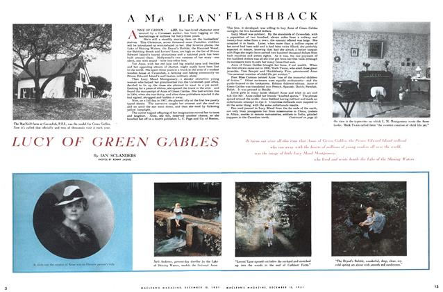 Article Preview: LUCY OF GREEN GABLES, December 1951 | Maclean's