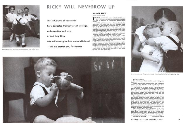 Article Preview: RICKY WILL NEVER GROW UP., January 1952 | Maclean's