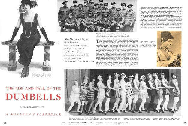 Article Preview: THE RISE AND FALL OF THE DUMBELLS, January 1952 | Maclean's