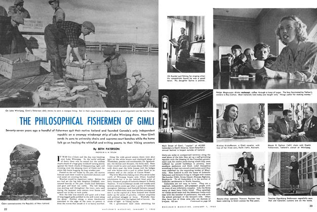 Article Preview: THE PHILOSOPHICAL FISHERMEN OF GIMLI, January 1952 | Maclean's