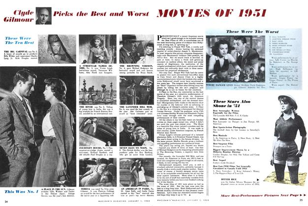 Article Preview: Picks the Best and Worst MOVIES OF 1951, January 1952 | Maclean's