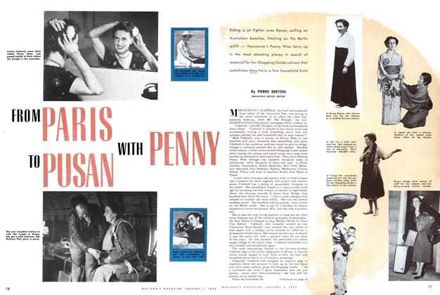 Article Preview: FROM PARIS TO PUSAN WITH PENNY., January 1952 | Maclean's