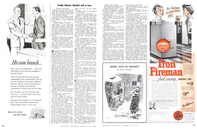 Article Preview: SHORT CUTS TO INSANITY, January 1952   Maclean's
