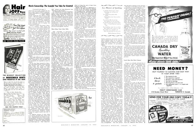 Article Preview: In a Manner of Speaking, January 1952 | Maclean's