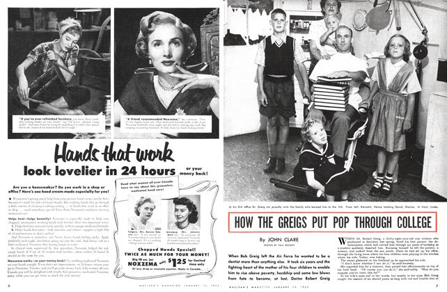 Article Preview: HOW THE GREIGS PUT POP THROUGH COLLEGE, January 1952 | Maclean's