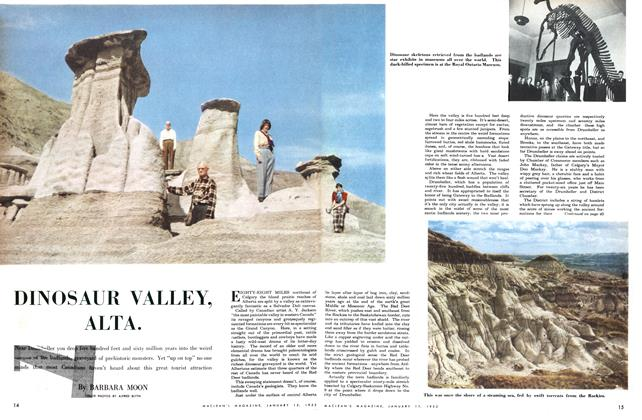 Article Preview: DINOSAUR VALLEY, ALTA., January 1952 | Maclean's