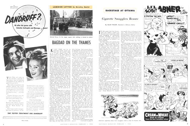 Article Preview: BAGDAD ON THE THAMES, February 1952 | Maclean's