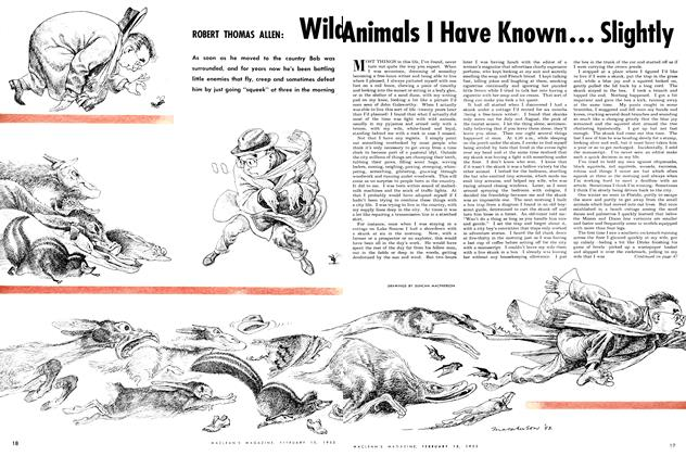 Article Preview: Wild Animals I Have Known ... Slightly, February 1952 | Maclean's