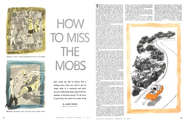 Article Preview: HOW TO MISS THE MOBS, February 1952 | Maclean's