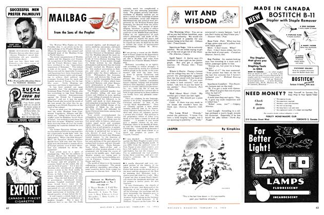 Article Preview: WIT AND WISDOM, February 1952 | Maclean's