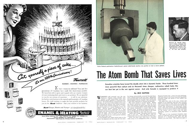 Article Preview: The Atom Bomb That Saves Lives, February 1952 | Maclean's