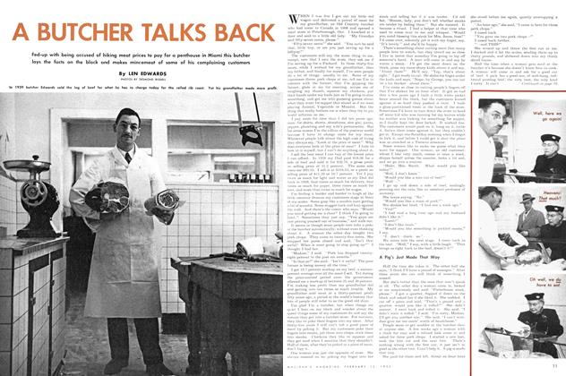 Article Preview: A BUTCHER TALKS BACK, February 1952 | Maclean's