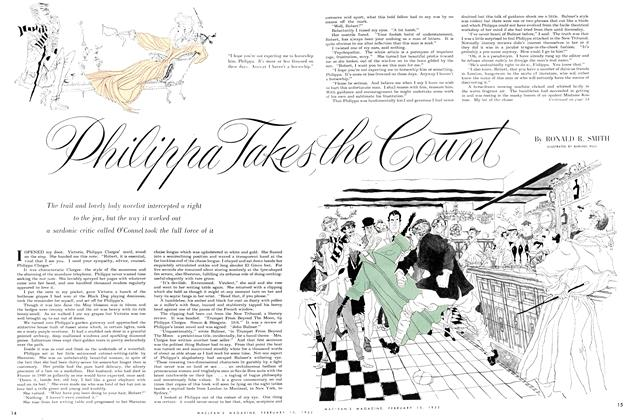 Article Preview: Philippa Takes the Count, February 1952 | Maclean's