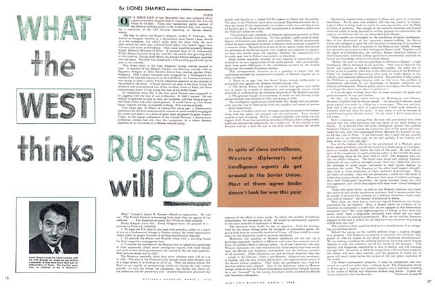 Article Preview: WHAT the WEST thinks RUSSIA will DO, March 1952 | Maclean's