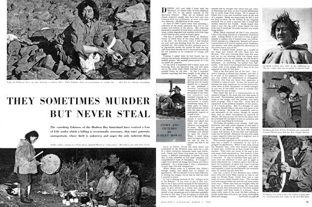Article Preview: THEY SOMETIMES MURDER BUT NEVER STEAL, March 1952 | Maclean's