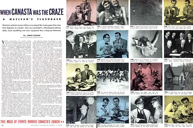 Article Preview: WHEN CANASTA WAS THE CRAZE, March 1952   Maclean's