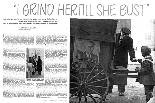 "Article Preview: ""I GRIND HER TILL SHE BUST"", March 1952 