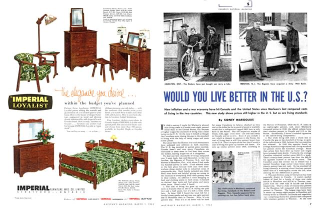 Article Preview: WOULD YOU LIVE BETTER IN THE U.S.?, March 1952 | Maclean's