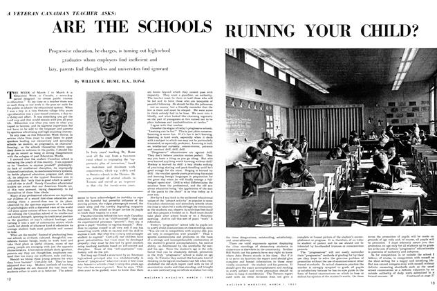 Article Preview: ARE THE SCHOOLS RUINING YOUR CHILD?, March 1952 | Maclean's