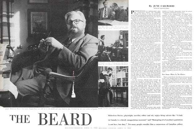Article Preview: THE BEARD, March 1952 | Maclean's
