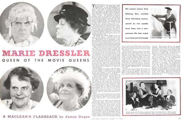 Article Preview: MARIE DRESSLER QUEEN OF THE MOVIE QUEENS, March 1952 | Maclean's