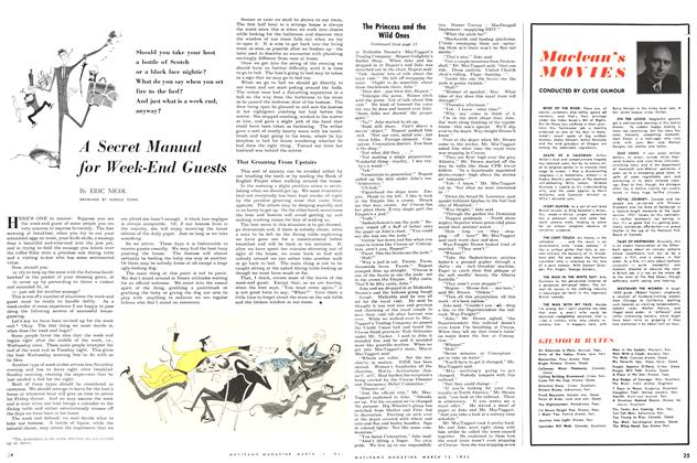 Article Preview: A Secret Manual for Week-End Guests, March 1952 | Maclean's