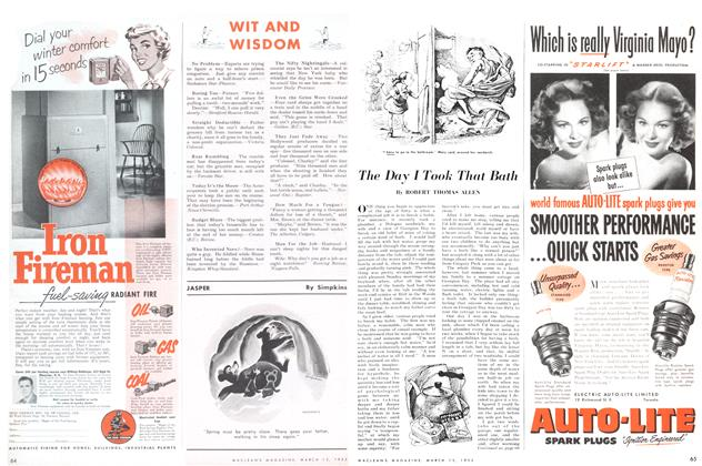 Article Preview: The Day I Took That Bath, March 1952 | Maclean's