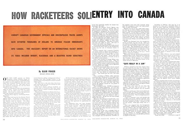 Article Preview: HOW RACKETEERS SOLD ENTRY INTO CANADA, March 1952 | Maclean's