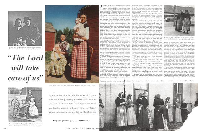 "Article Preview: ""The Lord will take care of us"", March 1952 