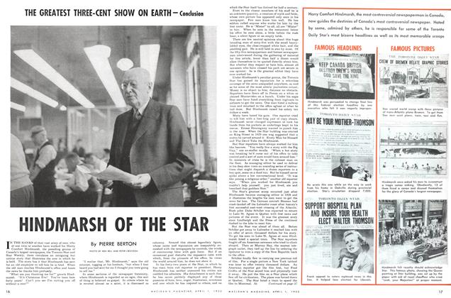 Article Preview: HINDMARSH OF THE STAR, April 1952 | Maclean's