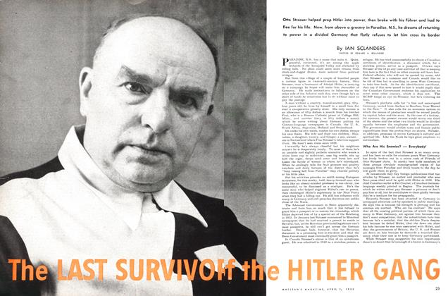 Article Preview: The LAST SURVIVOR of the HITLER GANG, April 1952 | Maclean's