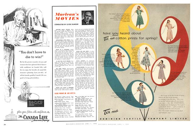 Article Preview: Maclean's MOVIES, April 1952 | Maclean's