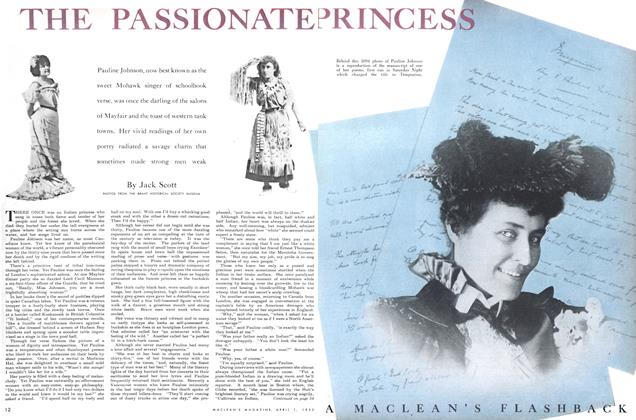 Article Preview: THE PASSIONATE PRINCESS, April 1952 | Maclean's