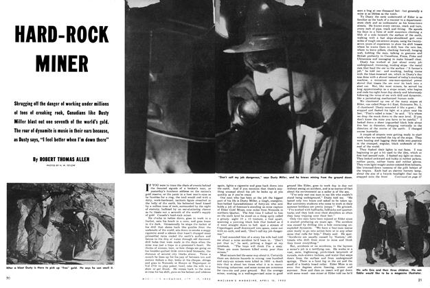 Article Preview: HARD-ROCK MINER, April 1952 | Maclean's