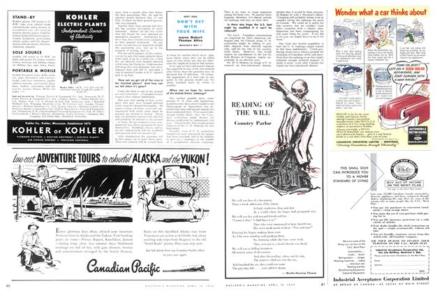 Article Preview: READING OF THE WILL, April 1952 | Maclean's