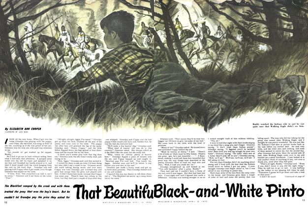 Article Preview: That Beautiful Black-and-White Pinto, April 1952 | Maclean's