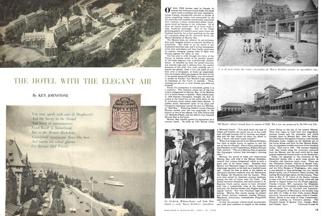 Article Preview: THE HOTEL WITH THE ELEGANT AIR, April 1952 | Maclean's