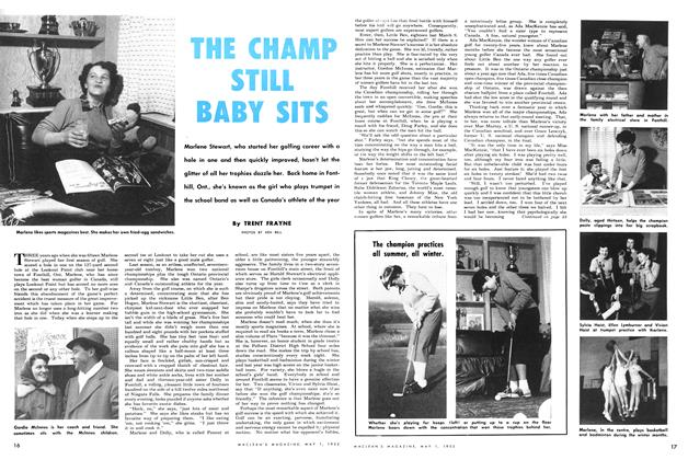 Article Preview: THE CHAMP STILL BABY SITS, May 1952 | Maclean's